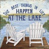 Lake Living I (best things) Art Print