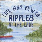 Lake Living IV (ripples) Art Print