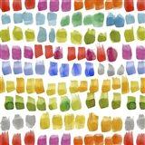 Painters Palette Multi II (brush stroke) Art Print