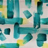 Aqua Abstract Square I Art Print
