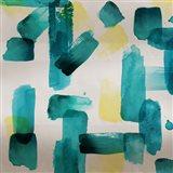 Aqua Abstract Square II Art Print