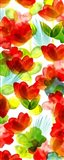 Tropical Floral Panel II Art Print