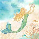 Sea Splash Mermaid I Art Print
