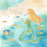 Sea Splash Mermaid II Art Print