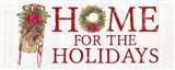 Home for the Holidays Sled Sign Art Print