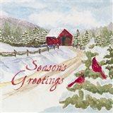Christmas in the Country II Seasons Greetings Art Print
