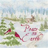Christmas in the Country III Peace on Earth Art Print
