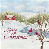 Christmas in the Country IV Merry Christmas Art Print