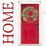 Home for the Holidays Home Door Art Print