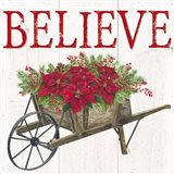 Home for the Holidays Believe Art Print