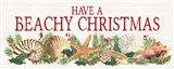 Have a Beachy Christmas Panel sign Art Print