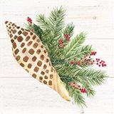 Christmas by the Sea Junonia square Art Print