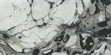 Black and White Marble Panel Trio II Art Print