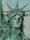 Statue Of Liberty Portrait Art Print