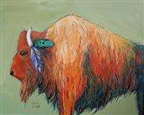 Warrior Bison Art Print