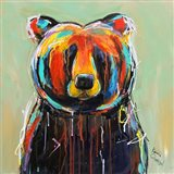 Painted Black Bear Art Print