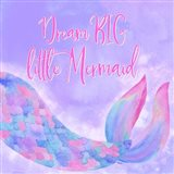 Mermaid Life I Pink/Purple Art Print