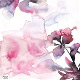 Watercolor Floral Pink Purple Trio II Art Print