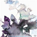 Watercolor Floral Pink Purple Trio III Art Print