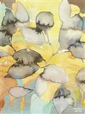 Yellow Leaves Abstract Art Print