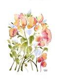 Blue and Pink Florals Art Print
