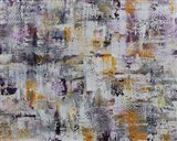 Gold Purple Grey Abstract Art Print