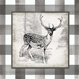 Buffalo Check Deer Neutral I Art Print