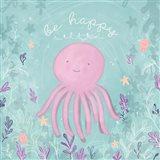 Mermaid and Octopus II Art Print