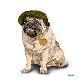 Pugs in Hats II Art Print