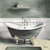 Smoky Gray Bath I Art Print