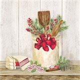 Christmas Kitchen I Art Print