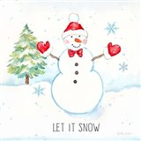 Vintage Holiday Cheer IV Art Print