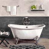 Serene Bath II black & white Art Print