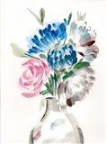 Floral Vase II Art Print