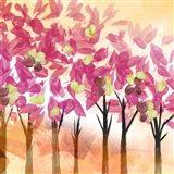 Pink Trees Art Print