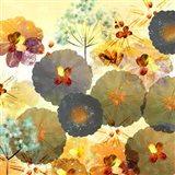 Textured Hedgerow Rust Square Art Print