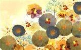 Textured Hedgerow Rust Landscape Art Print