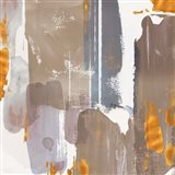 Icescape Abstract Grey Gold I Art Print