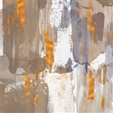 Icescape Abstract Grey Gold III Art Print