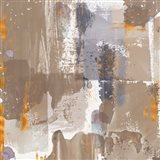 Icescape Abstract Grey Gold IV Art Print