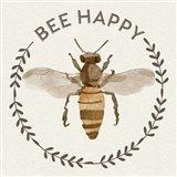 Bee Hive I-Bee Happy Art Print