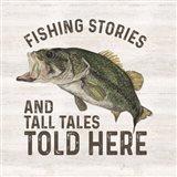 Less Talk More Fishing I-Tall Tales Art Print