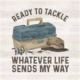 Less Talk More Fishing III-Tackle Art Print