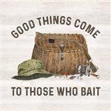 Less Talk More Fishing IV-Bait Art Print