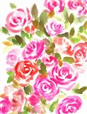 Bunches of Pink Portrait Art Print