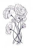 Blossoming Gray II Art Print