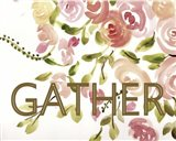 Farmhouse Florals-Gather Art Print