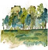 Blue Tree Forest Art Print