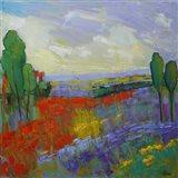 Poppy Field Valley Art Print