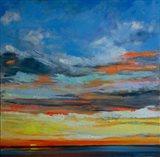 Hermosa Beach Sunset Art Print
